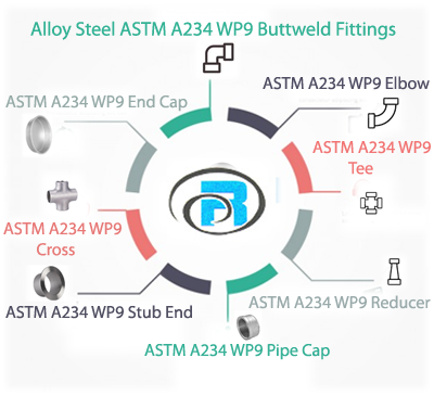 ASTM A234 WP9 Buttweld Fittings manufacturers in India
