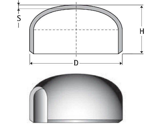 ASME B16.9 End Cap Dimensions