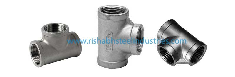 Stainless Steel Threaded Tee Manufacturers in India