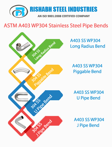 Stainless Steel 304 Pipe Bends Manufacturers in India, ASTM A403