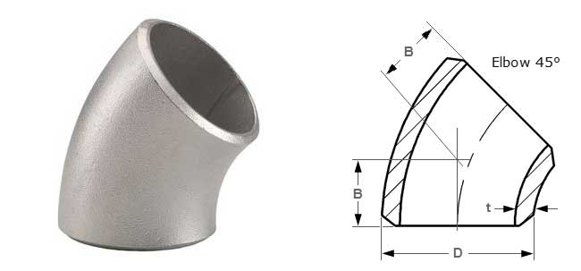 45 Degree Elbow Dimensions