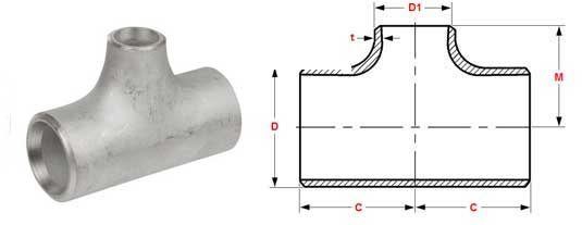 Stainless Steel Equal Tee Manufacturers in India, ASME B16 9